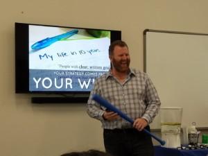 Kyle Bailey speaking at SEO Workshop